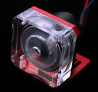 Bykski PMW Ultra-quiet D5 Gap pump+acrylic gap high flow water Cooling+Frame-Red