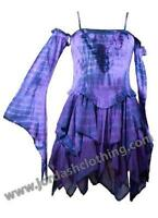 Faerie Style purple Mini Dress with pixie skirt detachable sleeves by Jordash ML