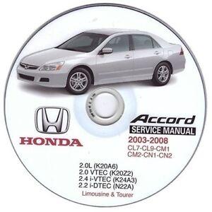 Honda Accord (2002-2008) Manual de Taller Workshop Manual