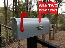 US style LETTERBOX MAIL BOX MAILBOX INDICATOR SILVER with TWO NUMBERS RSD