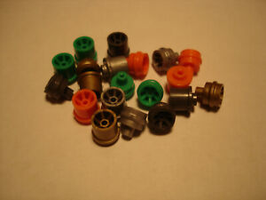 10 PAIR H.O. SCALE AFX FRONT & REAR REPRO RIM SETS IN ASSORTED COLORS GROUP #2