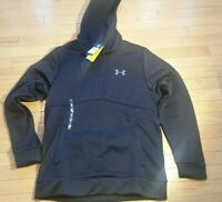 NWT Black UA Under Armour Storm Cold Gear Sweatshirt Hoodie 1280729 Mens Sz Med