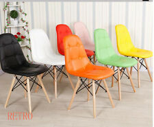 Dining table and 4 leather chairs retro DSW DSR Eiffel