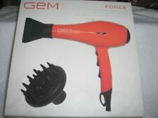 GEM Force Intense Ionic Ceramic Science Super Heat Hair Dryer   ORANGE   NIB