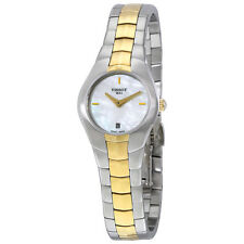 Tissot T-Round Mother of Pearl Dial Two-tone Ladies Watch T0960092211100