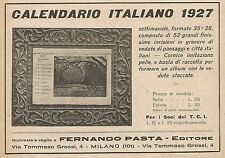 Z0024 Calendario italiano Fernando Pasta - Pubblicità del 1926 - Advertising