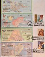 HNLP Hideaki Nakano 3914 3867 Art of Disney Cancelled Checks on Envelope