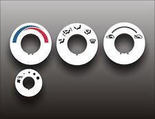 1990-1994 Mitsubishi Eclipse Eagle Talon White Heater Control Switch Overlay HVA