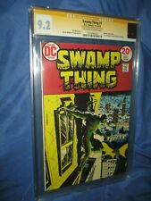 SWAMP THING #7 CGC 9.2 SS Signed by Bernie Wrightson 1973 BATMAN APPEARANCE