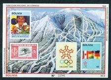 BOLIVIEN, 1988 Olympische Winterspiele Block 173 **, (7357)