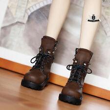 1/4 BJD Shoes MSD Supper Dollfie DREAM brown Punk Boots MID AOD DOD SOOM DZ AF