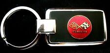 Corvette C3 Black Onyx w/ Silver Trim Key Chain-Free Engraving on back