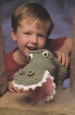 Crochet Pattern ~ DURWOOD THE DRAGON Puppet Kids Toy ~ Instructions
