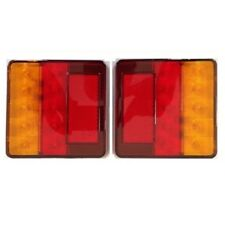 Square LED Trailer Tail Lights 12 VOLT (100mm x 100mm) - Pair
