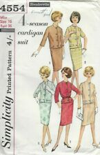 Simplicity Sewing Pattern 4554, Straight Skirt & Cardigan Jacket, Sz 16 36 Bust