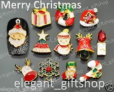 NEW Christmas Design Nail Art Tips Decoration Glitter Alloy Jewelry Gift #12A_X4