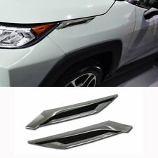 Fit Toyota  RAV4 2019 Headlight Molding Trim Front Side Fender Cover Trim