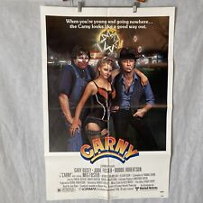 One Sheet 27x41 Movie Poster Carny 1980 Gary Busey Jodie Foster Robbie Robertson