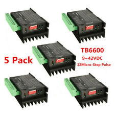 5x Tb6600 Stepper Motor Driver Controller 9 42vdc 4a Micro Step Cnc Drive Module