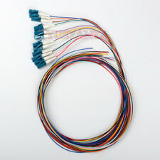 1M 12 Core fiber LC/UPC 9/125 Single-mode Fiber Optical Pigtail Cable PVC
