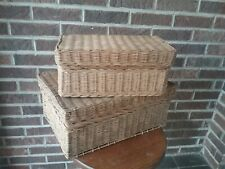 Set Of 2 Nesting Baskets Farmhouse Style