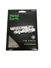 Fascinations Metal Earth FIRE ENGINE TRUCK 3D Laser Cut Puzzle Model Kit MMS115