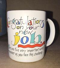 "Hallmark 4"" tall coffee mug congratulations on your new job With Box"