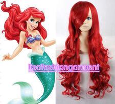 Disney Little Mermaid Princess Ariel Red Wig Long Curly for women Children Adult