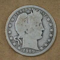 1909-P Barber/Liberty Head Quarter Good    A-264