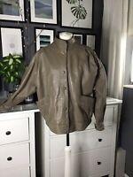 Vintage Leather Jacket Isabel Style Beige 16 Slouchy