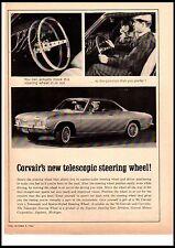 1964 Chevrolet Corvair Telescopic Wheel 65 Model Vintage Print Ad