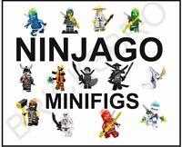 Lego Ninjago Minifigures Cole Jay Kai Lloyd Garmadon Nya Vermin Zane Wu Pythor