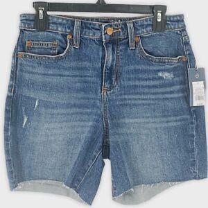 Universal Thread Boyfriend Distressed Relaxed Hip & Leg Frayed Hem Shorts Size 2