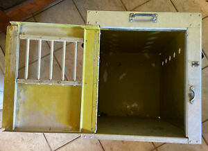 Bob Mckee Stationary Dog Crate Airline Kennel  Aluminum Box 1950's 16x24x18