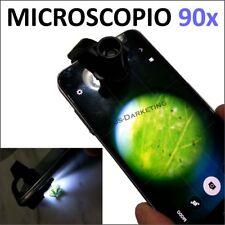 MICROSCOPIO 90X LENTE Magnifier INGRANDITORE per FOTOCAMERA SMARTPHONE CELLULARE