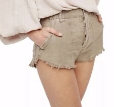 FREE PEOPLE Women's Shorts Raw and Patched Standoff Beige Size 12 $78