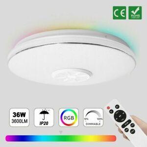 RGB LED Deckenlampe Bluetooth Musik Lautsprecher Mit APP Fernbedienung DIMMBAR