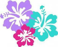 20 WATER SLIDE NAIL ART DECAL TRANSFERS BEAUTIFUL HIBISCUS FLOWERS 5/8 INCH