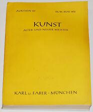 KUNST: Alter und Neuer Meister; Auktion 137; Karl u. Faber, München, May1974
