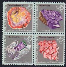 United States Scott  1538 - 1541 Minerals Block Mint listed as Scott 1541a