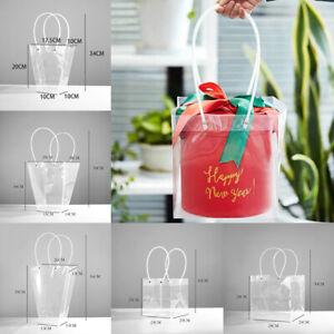 Flower Gift Bag Box PVC Plastic Transparent Bag Handbag Bag Packaging Florist