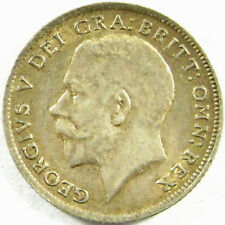 1918  Great Britain 6 Pence  Km# 815   Silver    A Nearly Uncirculated Coin