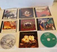 Lot of 9 CHRISTMAS  Praise and Worship Hymns Christian Music CDs USED