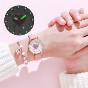 Fashion Casual Women Girls Watches Leather Bracelet Quartz Wrist Watch Gift US
