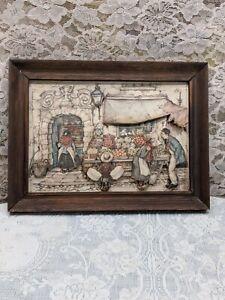 Vintage framed Anton Pieck 3D Shadowbox Paper Art