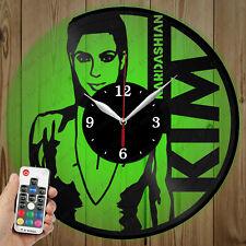 LED Vinyl Clock Kim Kardashian LED Wall Art Decor Clock Original Gift 4629