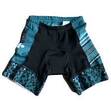 Zoot Ironman Triathlon Cycling Shorts Size S Wms Black Teal Chattanooga NWOT Pad