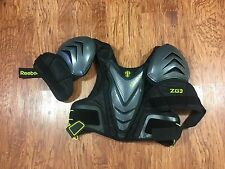 Reebok ZG3 Lacrosse Shoulder Pads Chest Protector Size Small Black Lime