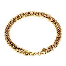 Men's Gold Plated Heavy Cuban Link Chain Bracelets Jewelry Hip Hop 8 Inch