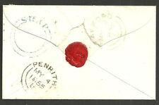 1D Star C3 SG 24 Stafford 1855 americano sin fecha círculo en Azul